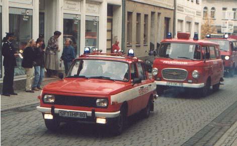 der alte ELW 1auf Wartburg 353 und das ehemalige MTF auf B1000