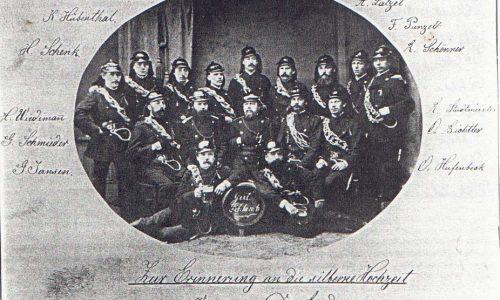 Männerturnverein 1884 Männerturn- und Feuerwehrverein, der damals die Egelner Feuerwehr bildete, im Jahre 1884
