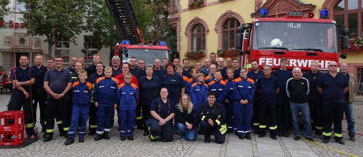 Aktionstag der Feuerwehr Egeln auf dem Marktplatz im Jahr 2019